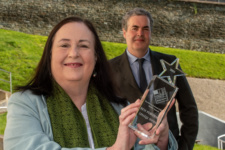 Head of Science and the Creative Industries at Danny Laverty, Suzanne Rodgers, Curriculum Manager for Media, pictured after NWRC was awarded Top Performing College at the NICMA awards.