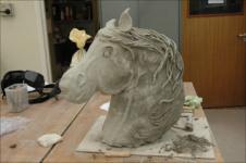 Melissa ceramic horse head