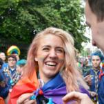Students union pride march