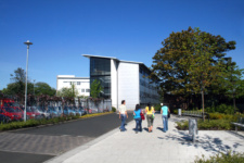 NWRC Limavady Campus building with students walking outside
