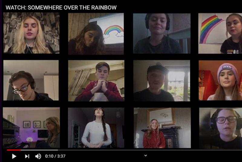 Web over the rainbow