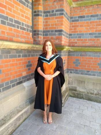 Paula graduating from Queen's University Belfast