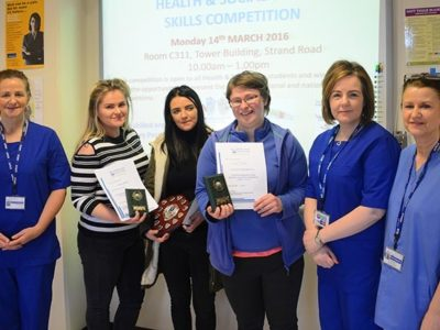 Students fighting fit at North West Regional College Health and Social Care Competition