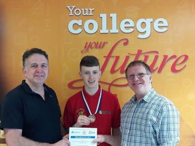 Bronze medal for Greystone student Aaron Simpson