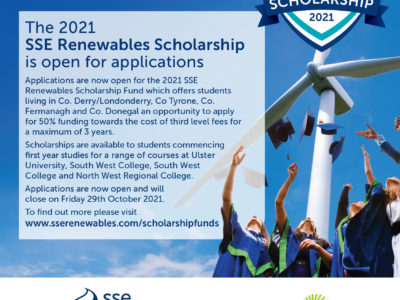 2021 SSE Renewables Scholarship open for applications