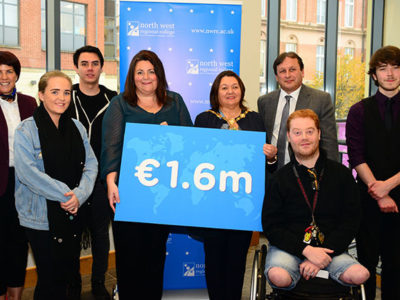 €1.6 million of Erasmus+ funding for NWRC staff and students