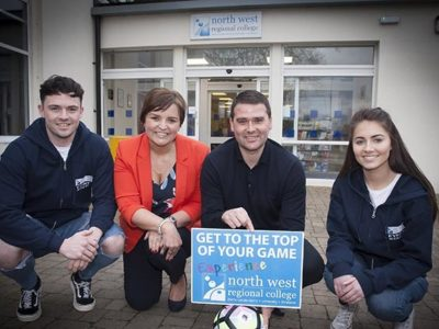 David Healy delivers inspiring talk at North West Regional College Limavady