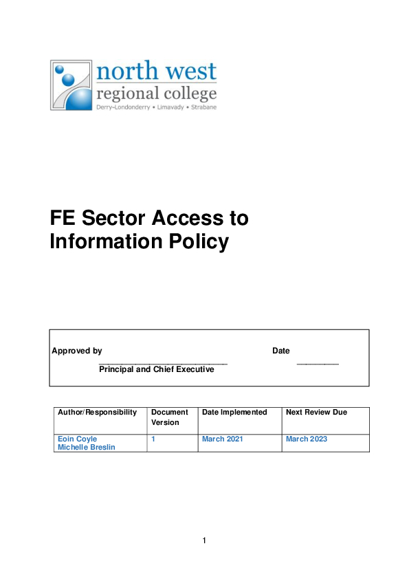 FOI – Access to Information Policy