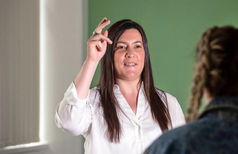 Image of Breidge Patton (British Sign Language)